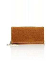 Barneys New York Women's Velvet Chain Wallet - Cognac