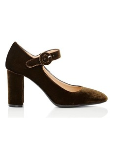 Barneys New York Women's Velvet Mary Jane Pumps
