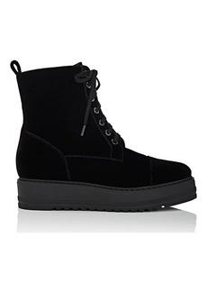 Barneys New York Women's Velvet Platform-Wedge Ankle Boots