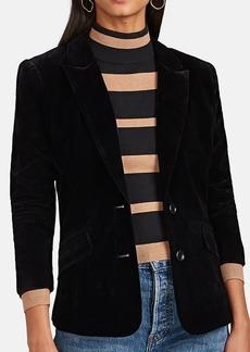 Barneys New York Women's Velvet Two-Button Blazer