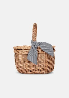 Barneys New York Women's Wicker Picnic-Basket Bag - Neutral