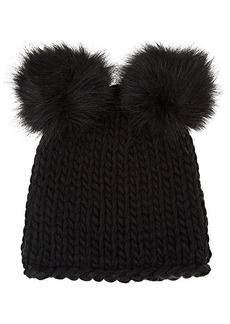 Barneys New York Women's Wool-Blend Double Pom-Pom Hat