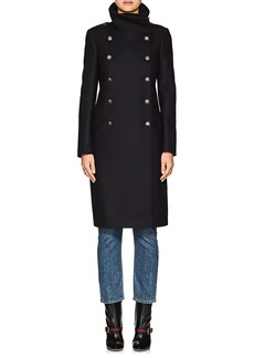 Barneys New York Women's Wool-Blend Long Double-Breasted Coat