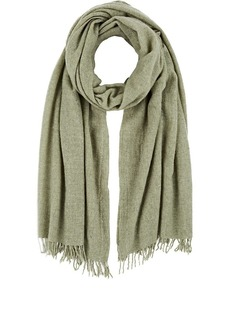 Barneys New York Women's Wool Scarf - Olive