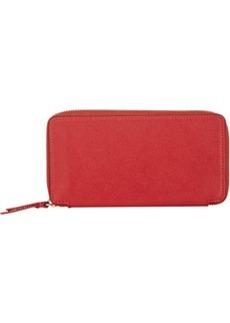 Barneys New York Women's Zip-Around Wallet - Red