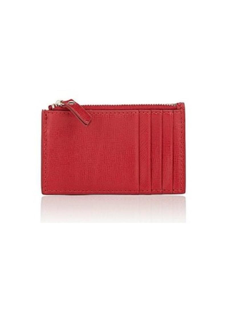 Barneys New York Women's Zip Card Case - Red