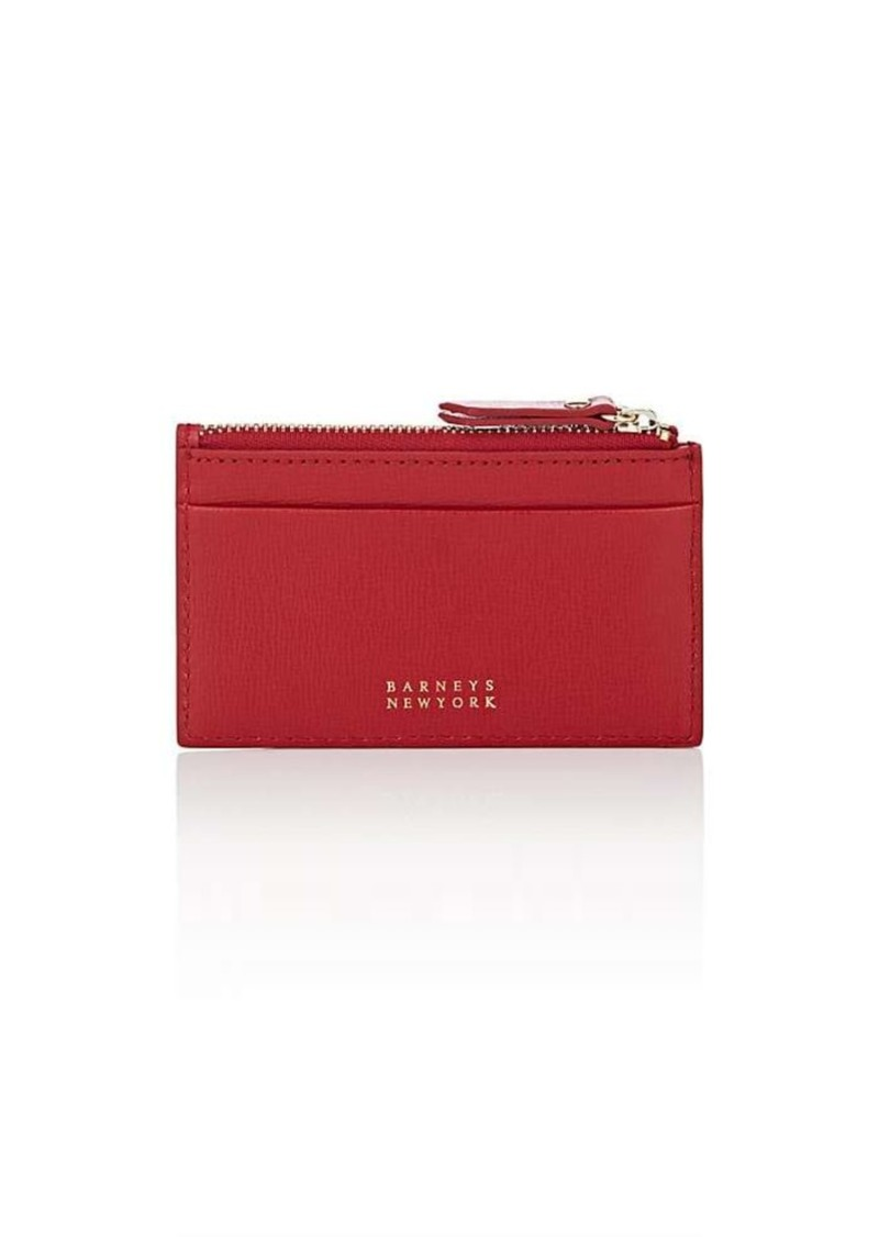 Barneys New York Women's Zip Card Case - Red