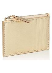 Barneys New York Women's Zip Card Case - Gold