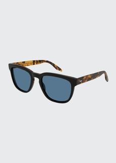 Barton Perreira Men's Coltrane Square Acetate Sunglasses  Black/Tortoiseshell