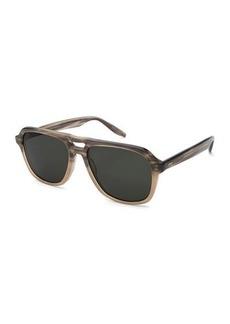 Barton Perreira Men's Modernist Aviator Acetate Sunglasses