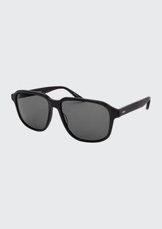 Barton Perreira Men's Rectangle Acetate Polarized Sunglasses
