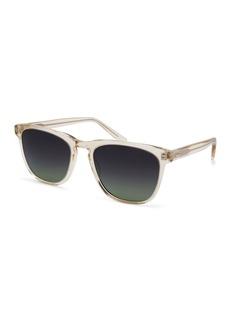 Barton Perreira Cutrone Polarized Classic Square Sunglasses  Clear Champagne/Poison