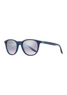 Barton Perreira Men's Plimsoul Round Sunglasses  Cobalt/Silver