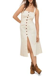 ba&sh Cybelle Button Front Midi Dress