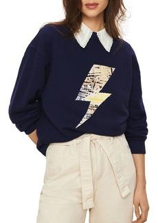 ba&sh East Graphic Sweatshirt
