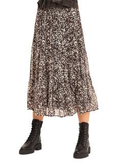 ba&sh Elliot Printed Midi Skirt
