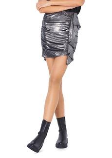 ba&sh Malaga Metallic Ruffled Mini Skirt