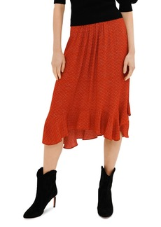 ba&sh Valley Printed Pleated Front Skirt
