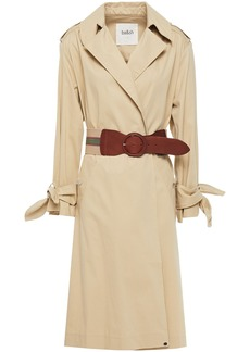 Ba&sh Woman Balzac Belted Cotton-blend Gabardine Trench Coat Beige