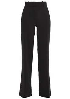 Ba&sh Woman Casila Crepe Straight-leg Pants Black