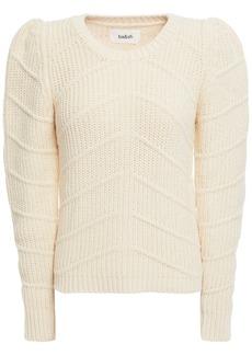 Ba&sh Woman Dabney Ribbed Cotton-blend Sweater Cream