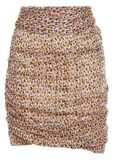 Ba&sh Woman Dina Belted Printed Metallic Chiffon Mini Skirt Multicolor