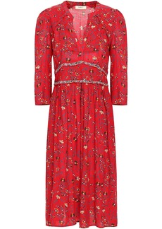 Ba&sh Woman Festina Floral-print Woven Midi Dress Crimson