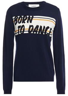 Ba&sh Woman Intarsia Wool Sweater Navy