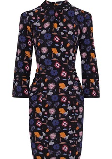 Ba&sh Woman Maha Gathered Floral-print Crepe Mini Dress Black