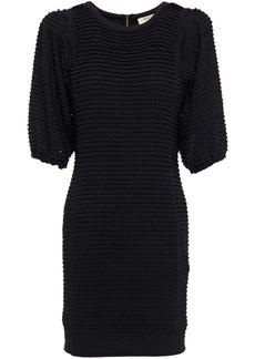 Ba&sh Woman Nolita Ruffled Crocheted Mini Dress Black