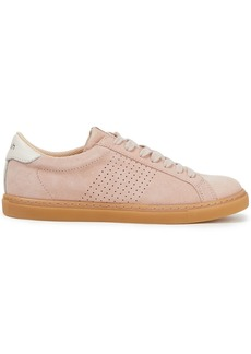 Ba&sh Woman Perforated Suede Sneakers Blush