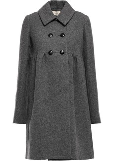 Ba&sh Woman Primera Double-breasted Brushed-tweed Coat Anthracite