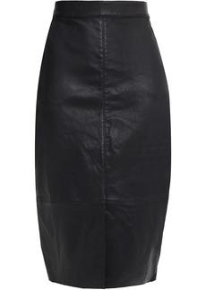 Ba&sh Woman Queen Leather Pencil Skirt Black