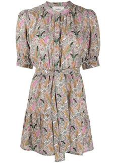 ba&sh Jasmine botanical-print shirt dress