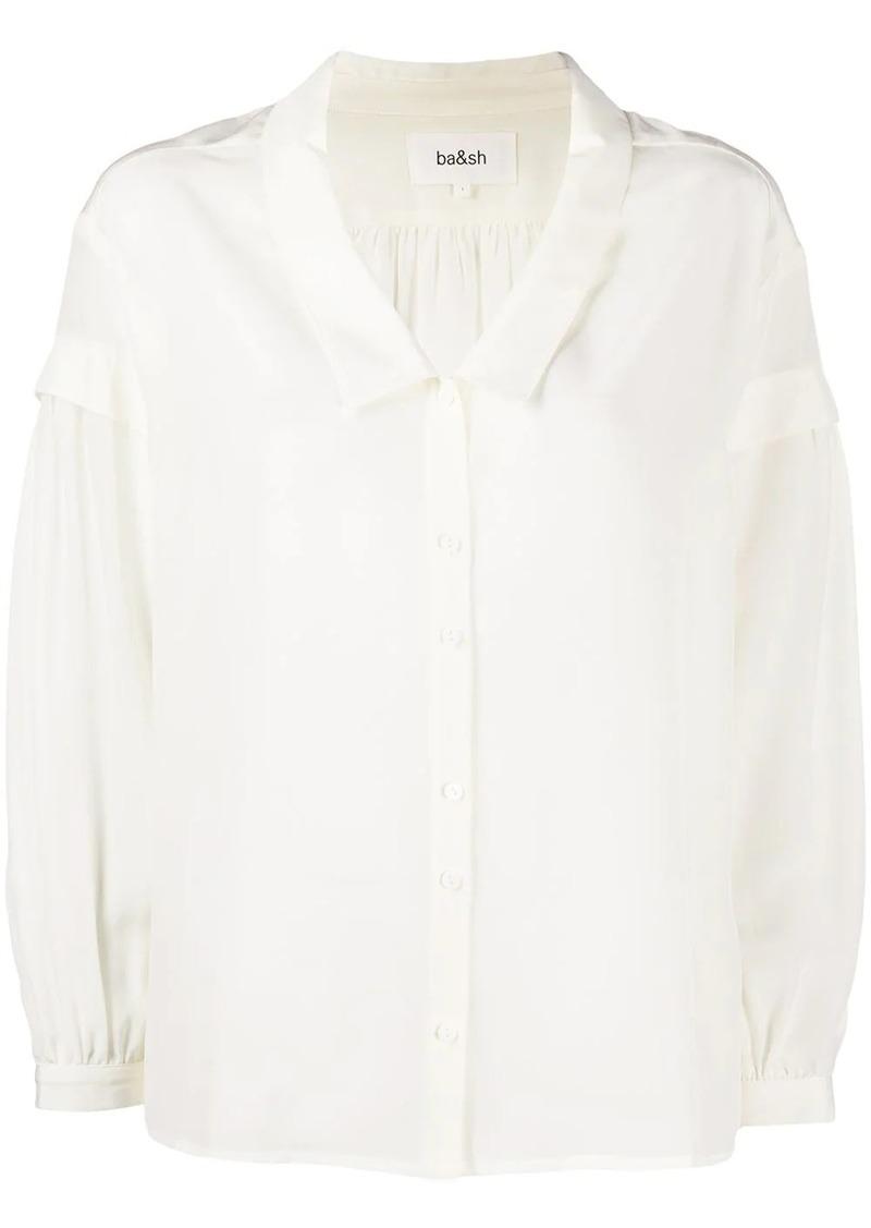 ba&sh oversized collar shirt