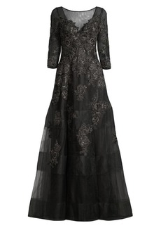 Basix Black Label Lace & Tulle Ball Gown