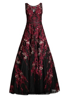 Basix Black Label Lace Embroidered Ball Gown