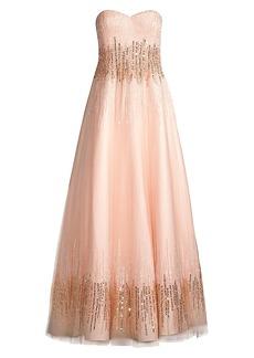 Basix Black Label Strapless Ombré Sequin Ball Gown