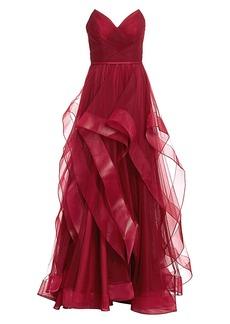 Basix Black Label Sweetheart Cascade Gown