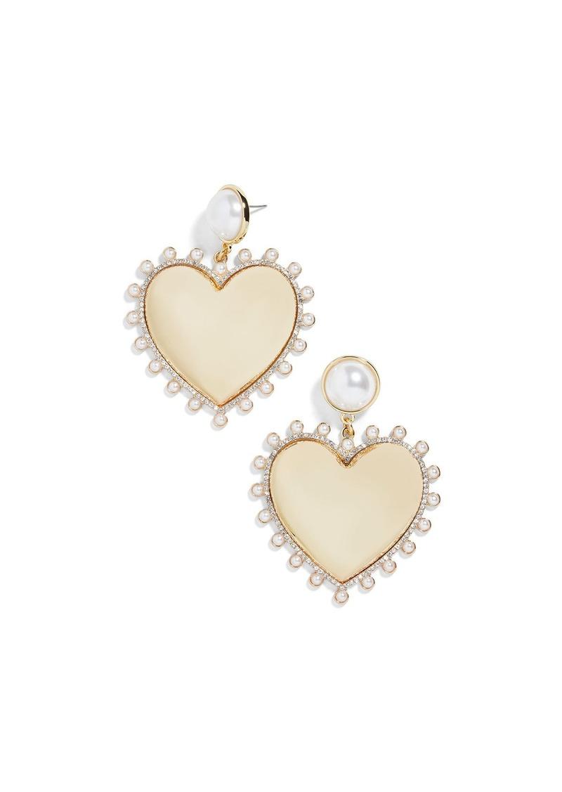 BaubleBar Amalia Pearly Heart Drop Earrings