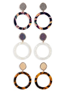 BaubleBar 3-Pack Hoop Earrings