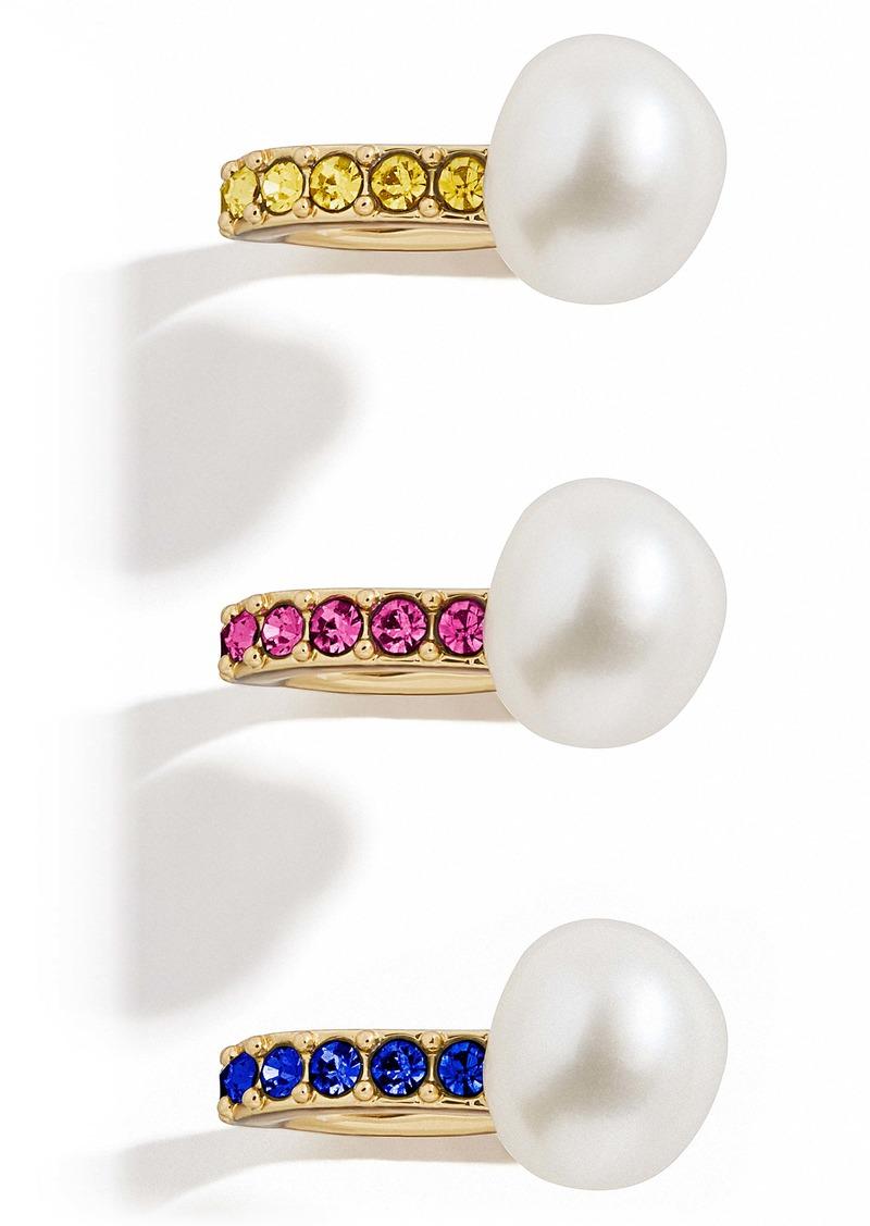 BaubleBar 3-Pack Pearl Ear Cuffs