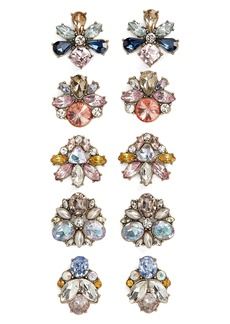 BaubleBar 5-Pack Crystal Stud Earrings