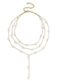 BaubleBar Abriella Freshwater Pearl Layered Y-Necklace