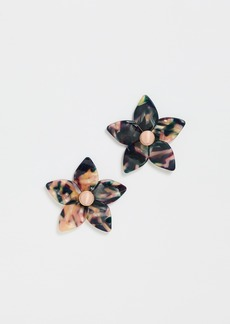 BaubleBar Amariella Flower Stud Resin Earrings