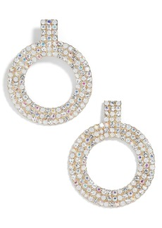 BaubleBar Adonia Pavé Hoop Earrings