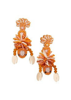 BAUBLEBAR Amazon Beaded Lobster Drop Earrings