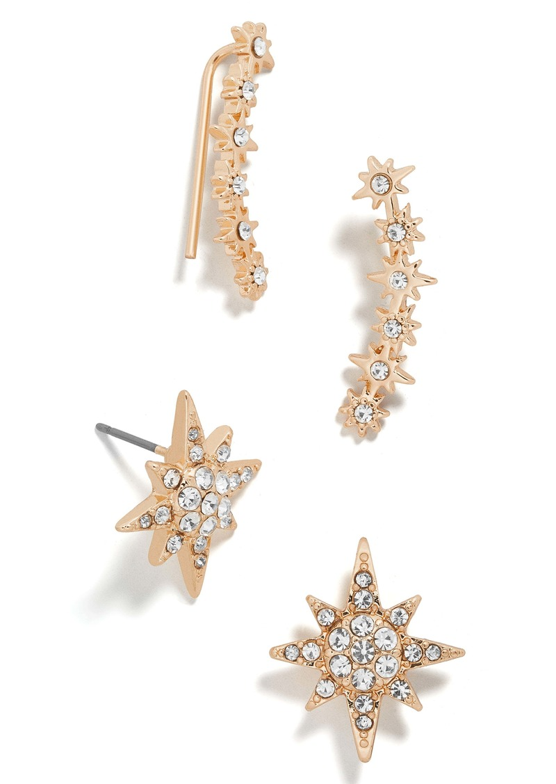 Baublebar Andromeda Crystal Ear Crawlers & Stud Earrings Set