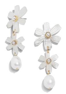 BaubleBar Anemone Genuine Pearl Drop Earrings
