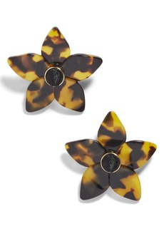 BaubleBar Ashaya Resin Flower Earrings